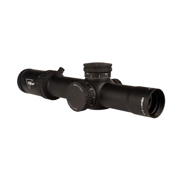 Trijicon Scope Creedo 1-8x28 FFP Red/Freen Mrad Segmented Circle 34mm Tube Mat Black Exposed Adjuster Riflescope