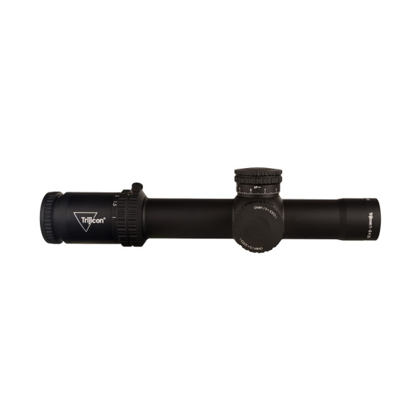 Trijicon Scope Creedo 1-8x28 FFP Red/Freen Mrad Segmented Circle 34mm Tube Mat Black Exposed Adjuster Riflescope