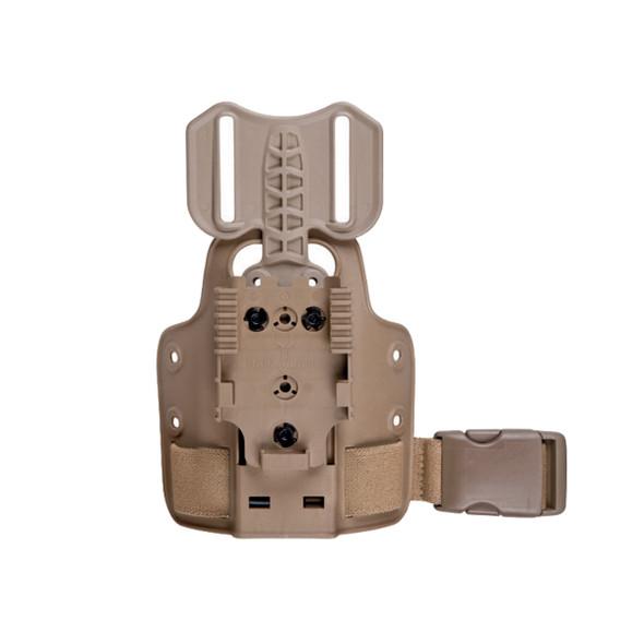 Safariland 6004-27-55 Small Tactical Plate w/DFA, QLS Receiver Plate, FDE