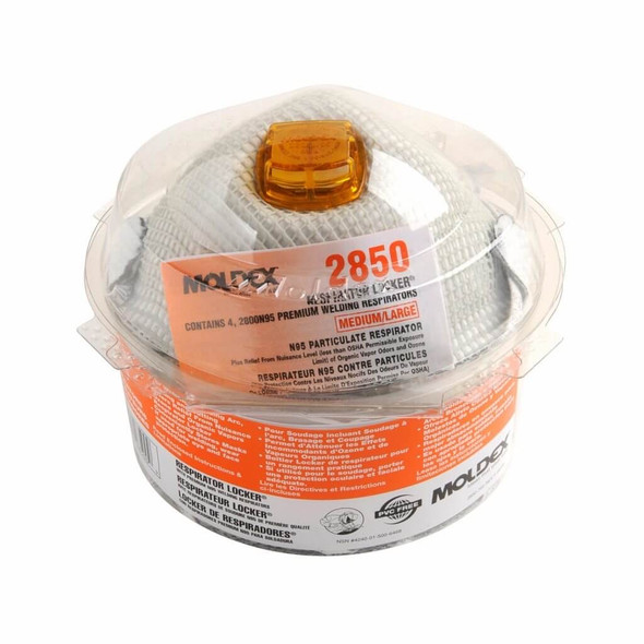 Moldex 2850 Two In One Storage Respirator Lockers 4/Pack