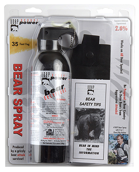 UDAP 18CP Magnum 13.4oz Bear Spray w/Chest Holster 380gr OC Pepper 35ft Range