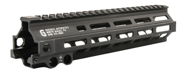 """Geissele Automatics 05284B Super Modular Rail MK8 M-LOK 6061-T6 Aluminum Black Anodized 9.50"""" L for AR-15, M4, M16  The Super Modular Rail (SMR) MK8 M-LOK is Geissele's ultra-modular model. It is designed to give the user full modularity while maintaining a strong and rigid platform. Maximum venting at the lower 45 degree quadrants create maximum heat dissipation and also dramatically reduces the rail's overall weight. The rail utilizes Magpul's M-LOK technology at the 3, 6, and 9 o'clock positions, as well as the upper 45 degree quadrants. The SMR MK8 is both versatile and modular, allowing the user to tailor their platform to his or her unique needs. NOTE: This rail is designed to work with Mil-Spec M4 upper receivers. The compatibility with billet receiver sets is unknown."""