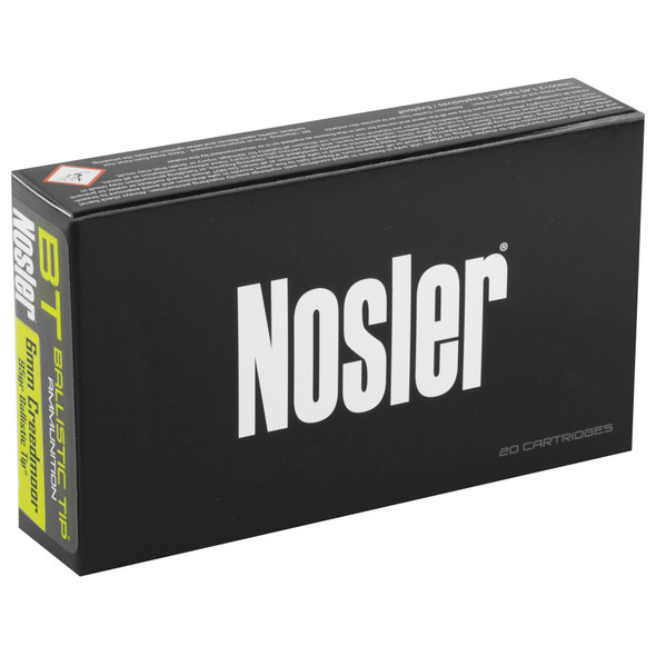 Nosler Hunting 6mm Creedmoor 95GR Ballistic Tip Ammunition 20 Rounds
