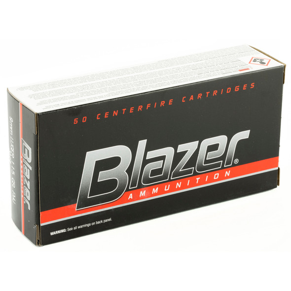 CCI Blazer 9mm Luger 115GR FMJ Ammunition 50 Rounds
