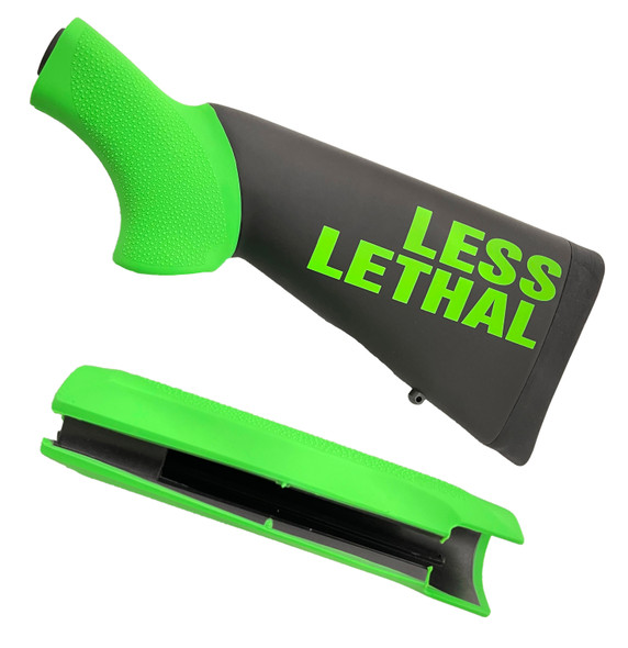 Hogue Less Lethal Florescent Green Shotgun Stock & Forend Sets Remington 870