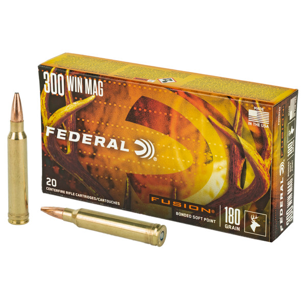 Federal Fusion 300 Win Mag 180GR Fusion Soft Point Ammunition 20 Rounds