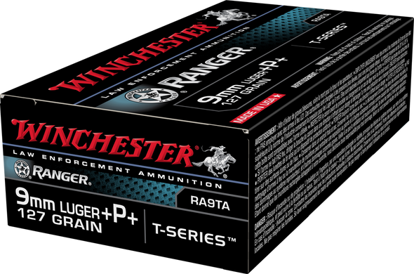 Winchester Ranger T-Series RA9TA 9mm 127GR +P+ Ammunition 50 Rounds