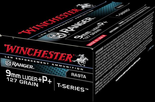 Winchester RA9TA Ranger T-Series 9mm 127GR +P+ Ammunition 50rds
