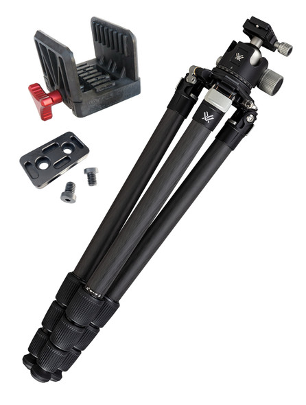 Vortex TR-RADB Radian Carbon with Ball Head Tripod Kit W/FREE GunJaw & ARCA Plate