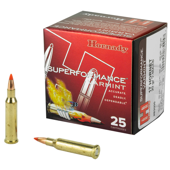 Hornady Superformance 17 Hornet 20GR V-Max Ammunition 250 Rounds