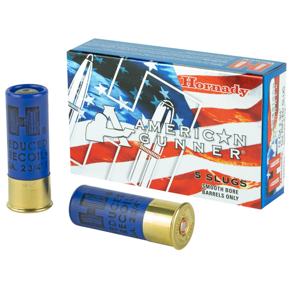 "Hornady 12GA 2.75"" Reduced Recoil 1oz Rifled Slug Ammunition 5 Rounds"