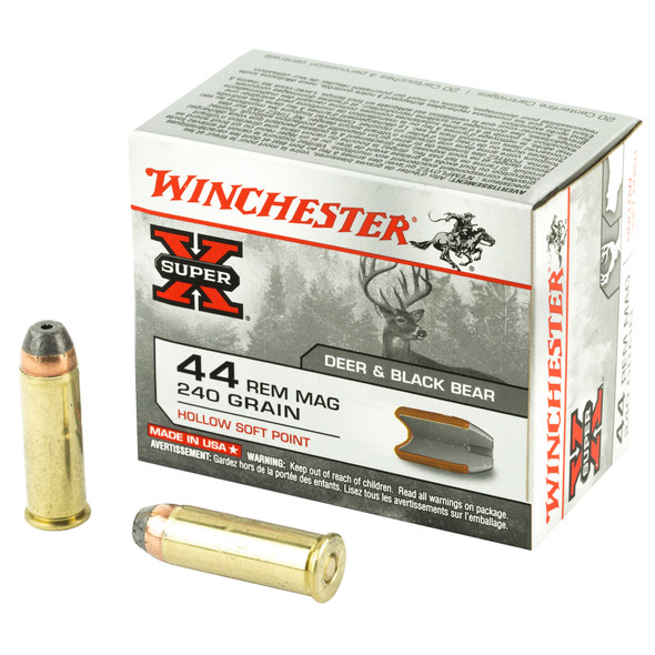 Winchester Super-X 44 Mag 240GR Hollow Soft Point Ammunition 200 Rounds