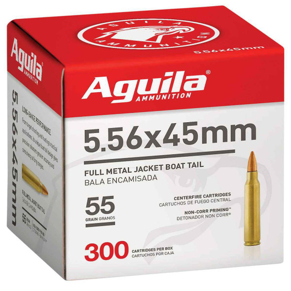 Aguila 5.56mm 55GR FMJ Ammunition 300 Rounds