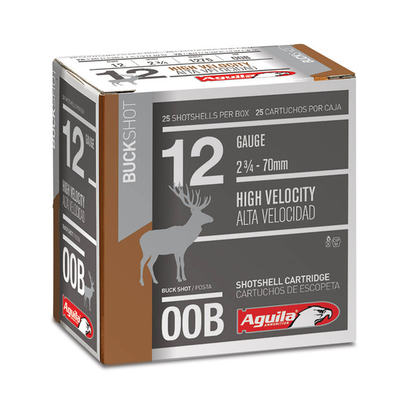 "Aguila 12GA 2.75"" 00 Buck Ammunition 25 Rounds"