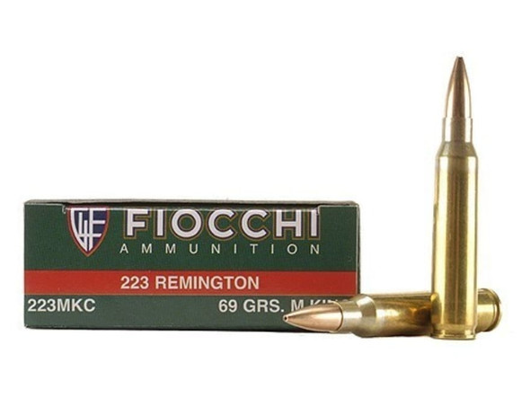 Fiocchi 223MKC Exacta Match 223 Rem 69gr Sierra MatchKing Boat-Tail Hollow Point Ammunition 20 Rounds