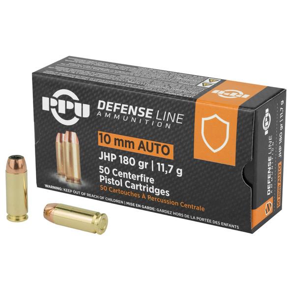 PPU 10mm 180gr JHP Ammunition 50rds
