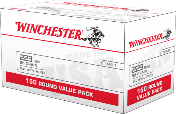 Winchester 223 Rem 55GR FMJ Ammunition 150 Rounds
