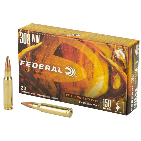Federal Fusion 308 Win 150GR Boat Tail Ammunition 20 Rounds