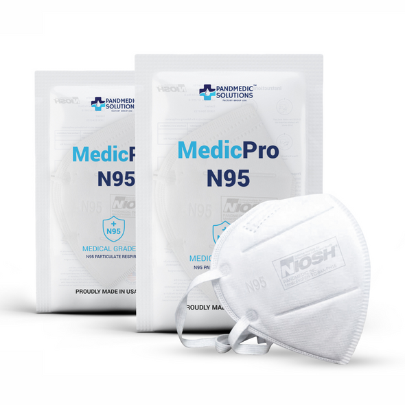 Pandmedic MedicPro N95 Medical Grade Masks 5/Pack MADE IN USA