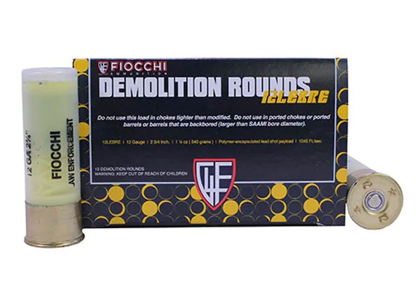 "Fiocchi Breaching 12GA 2.75"" Shotshell Ammunition 10 Rounds"