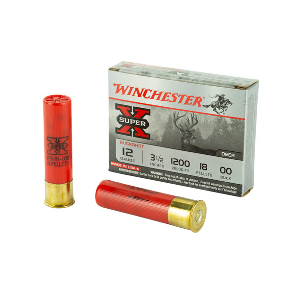 "Winchester Super-X 12GA 3.5"" Buck Shot Ammunition 5 Rounds"