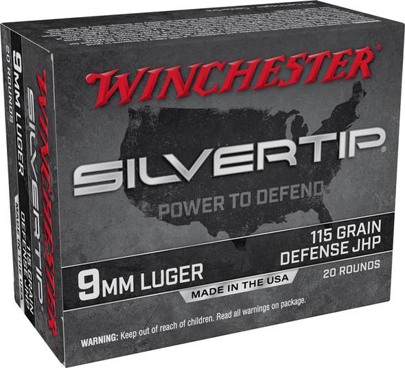 Winchester Silvertip 9mm 115GR JHP Ammunition 20 Rounds