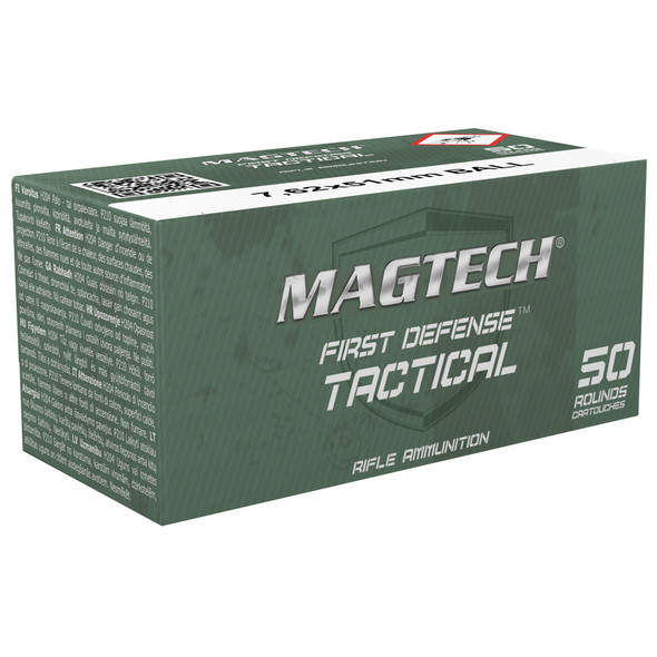 Magtech First Defense Tactical 7.62x51mm NATO 147GR FMJ Ammunition 50 Rounds