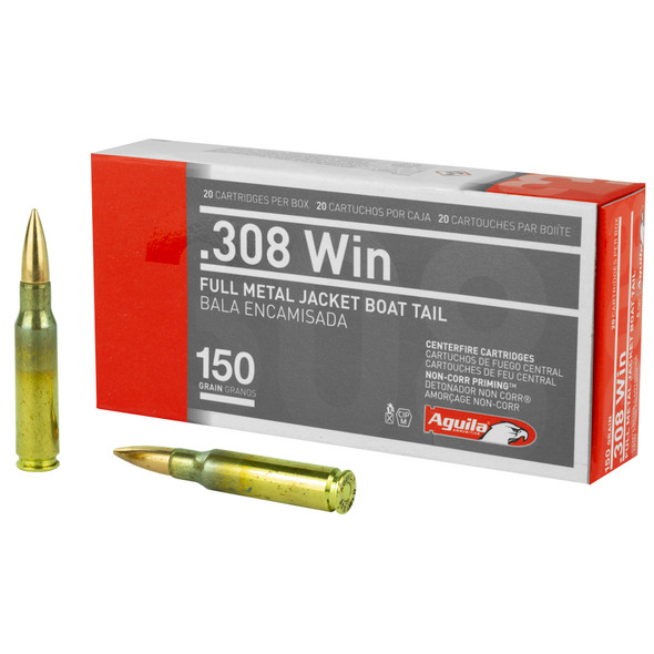 Aguila 308 Win 150GR FMJBT Ammunition 20 Rounds