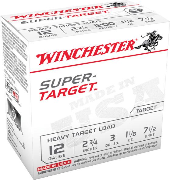 "Winchester Super Target 12GA 2.75"" Shotshell Ammunition 25rds"