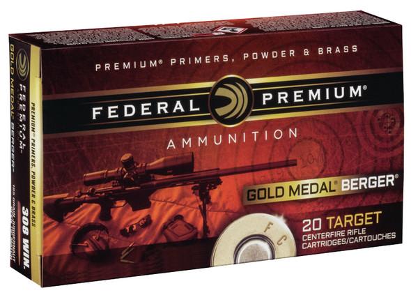 Federal Gold Medal .308 Winchester 185gr Berger Jugernaught Open Tip Match 20rds