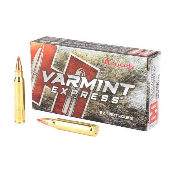 Hornady Varmint Express 223 Rem 55GR V-Max Ammunition 20 Rounds