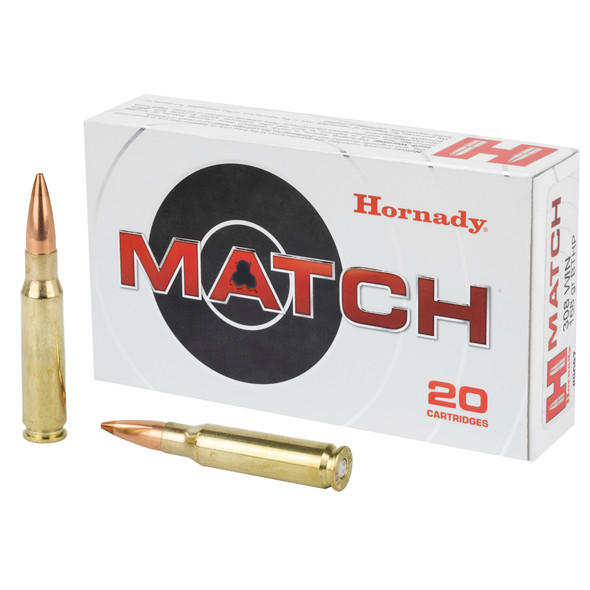 Hornady Match .308 Winchester 168gr BTHP Ammunition 20rds
