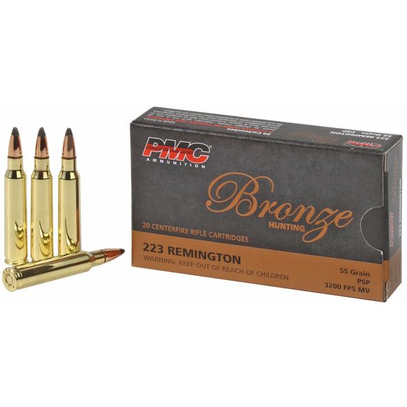 PMC Bronze 223 Rem 55GR PSP Ammunition 20 Rounds