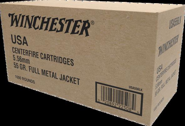 Winchester 5.56mm 55gr Ammunition 1000rds Bulk