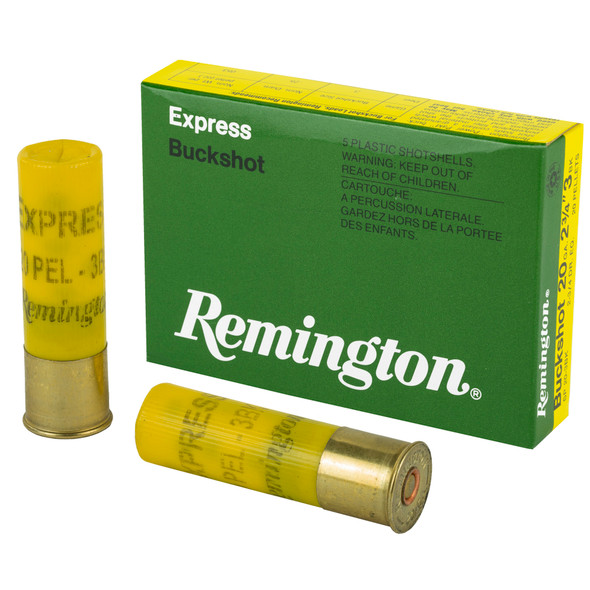 "Remington Express 20GA 2.75"" 3 Buckshot Ammunition 5 Rounds"