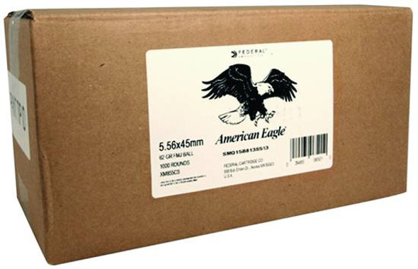 Federal American Eagle 5.56mm 62GR FMJ Ammunition 1000 Rounds