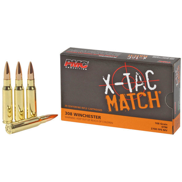 PMC X-Tac Match 308 Winchester 168GR OTM Ammunition 20 Rounds