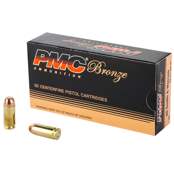 PMC Bronze 40 S&W 180GR FMJ Ammunition 50 Rounds