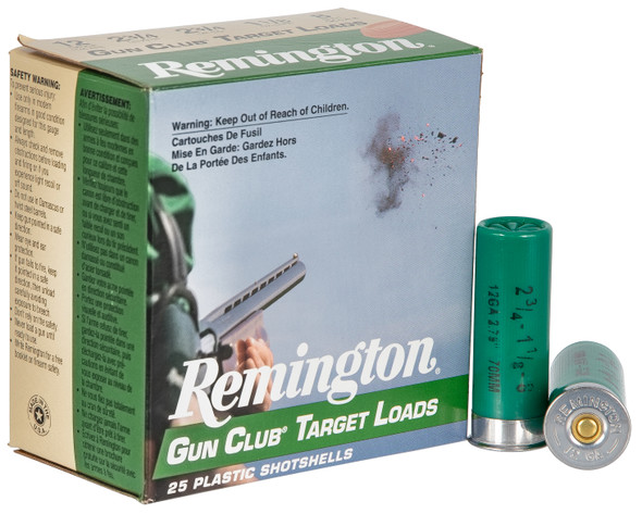 "Remington Gun Club 12GA 2.75"" 8 Shot Ammunition 25 Rounds"