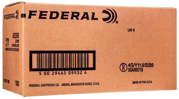 Federal American Eagle 5.56mm 55gr FMJBT Ammunition 1000rds