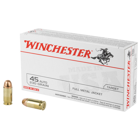 Winchester 45 ACP 230GR FMJ Ammunition 50 Rounds