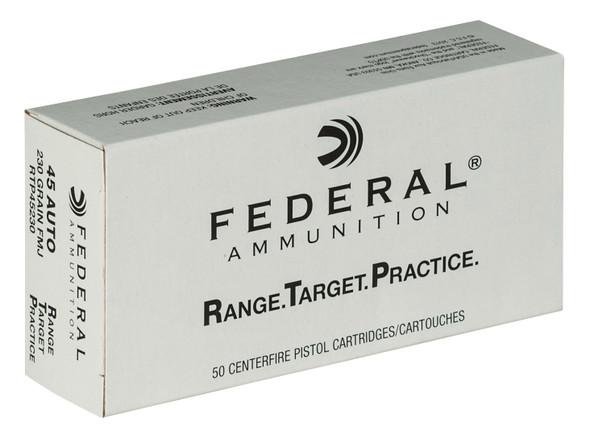 Federal Range & Target 45 ACP 230GR FMJ Ammunition 50 Rounds