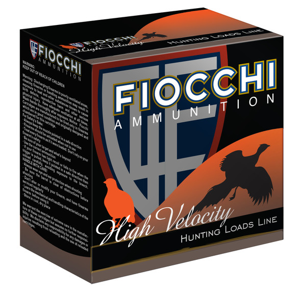 "Fiocchi High Velocity 12GA 2.75"" 8 Shot Ammunition 25 Rounds"