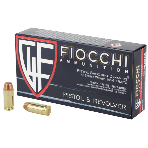 Fiocchi Shooting Dynamics 40 S&W 165GR TCFMJ Ammunition 50 Rounds