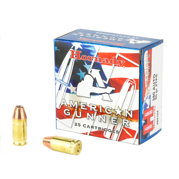 Hornady American Gunner 380 ACP 90GR XTP Hollow Point Ammunition 25 Rounds
