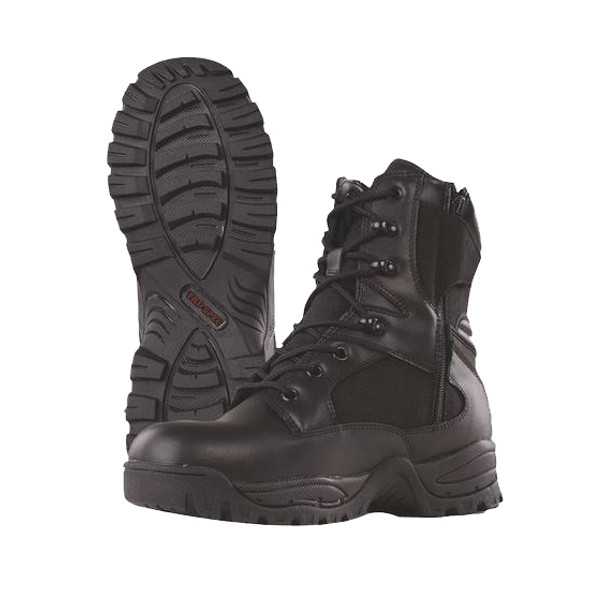 "Tru-Spec Tactical Assault 9"" Black Boots w/Side Zip"