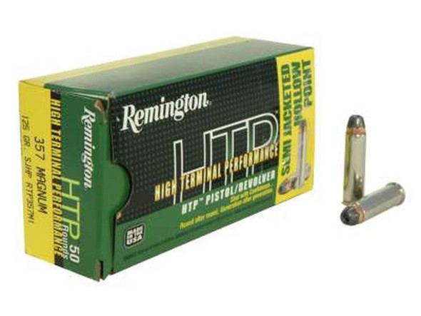 Remington HTP 125gr .357 Magnum SJHP Ammunition 50 Rounds
