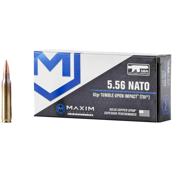 Maxim Defense 5.56mm 62GR TUI Ammunition 20 Rounds