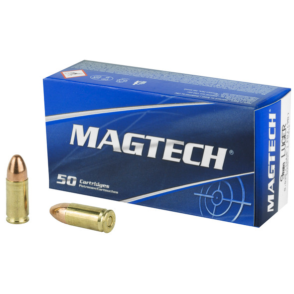 Magtech 9mm 124GR FMJ Ammunition 50 Rounds