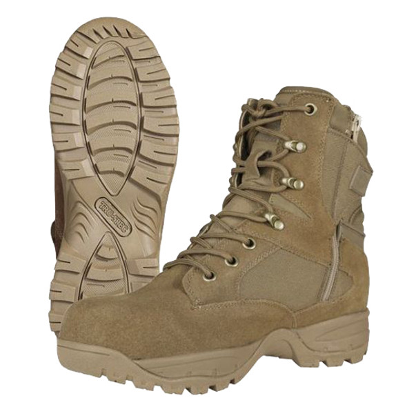 "Tru-Spec Tactical Assault 9"" Coyote Boots w/Side Zip"